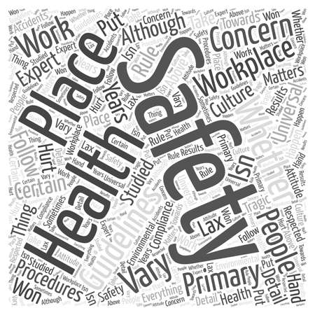 health and safety Word Cloud Concept