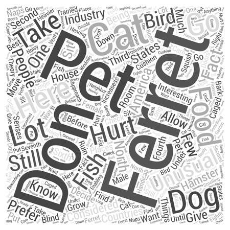 Ferrets As Pets Word Cloud Concept