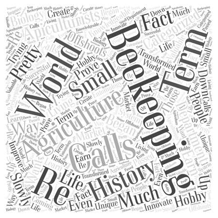 categorized: History of Beekeeping Word Cloud Concept Illustration