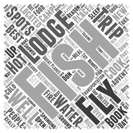 Fly Fishing Lodges Word Cloud Concept