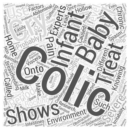 colic: Colic treatment Word Cloud Concept Illustration