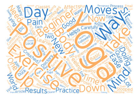Yoga Positions for Beginners Things You Need To Know text background word cloud concept
