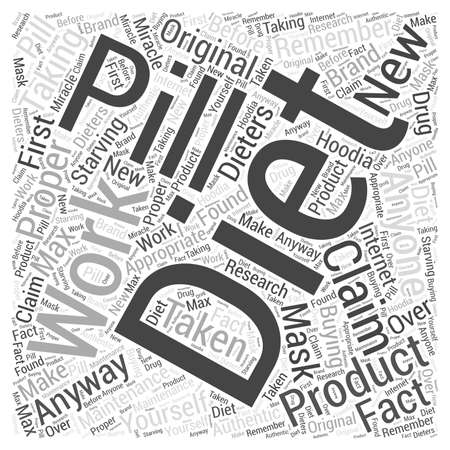 starving: Diet hoodia max pill Word Cloud Concept