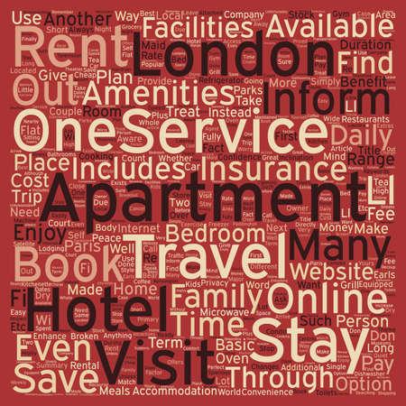 How a Serviced Apartment Can Enhance Your Next London Visit text background wordcloud concept Ilustração