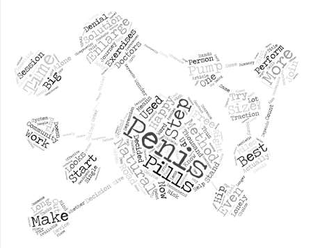 Which penis enlargement method is best for me Word Cloud Concept Text Background