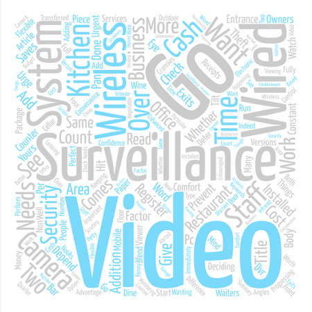 Wired Or Wireless Video Surveillance What s The Difference text background word cloud concept