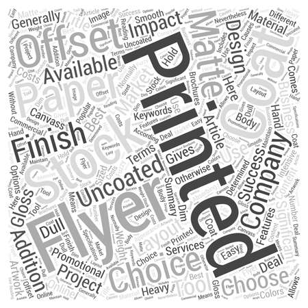 canvass: Choosing the Best Canvass For Your Flyer Artwork Word Cloud Concept
