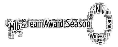 nl: Which Mlb Tickets Provided A Look At The Nl Award Winners In text background word cloud concept