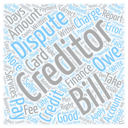 Ever Have A Problem With Your Credit Card Company text background wordcloud concept Ilustração