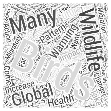 impacted: Global Warming And The Impact on Wildlife Word Cloud Concept Illustration