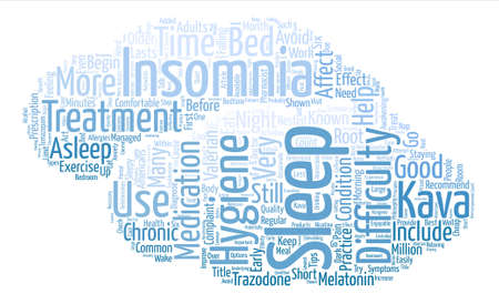 Insomnia Tips text background word cloud concept Illustration