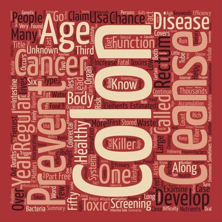 colon cleansing: How Colon Cleanse Can Prevent Colon Cancer Word Cloud Concept Text Background
