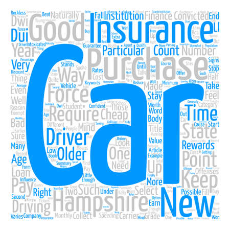 How To Get Cheap Car Insurance In New Hampshire text background word cloud concept