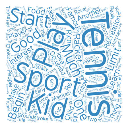 majority: Tennis Fun For Kids text background word cloud concept Illustration