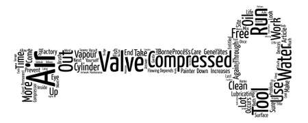 compressed air: Why care if there is water in your compressed air Word Cloud Concept Text Background