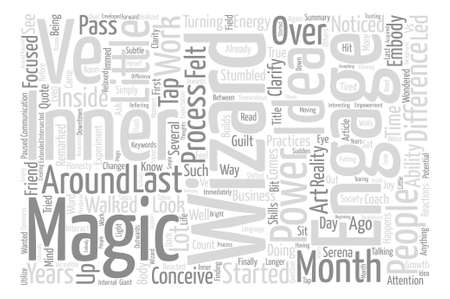 Your Inner Wizard text background word cloud concept