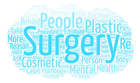 Skin Deep The Psychology Behind Plastic Surgery Word Cloud Concept Text Background