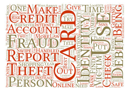 identity theft fraud gov Word Cloud Concept Text Background