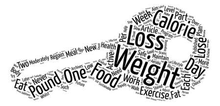 Safe Weight Loss Part text background word cloud concept
