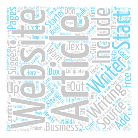 Why You Should Start An Article Website text background word cloud concept