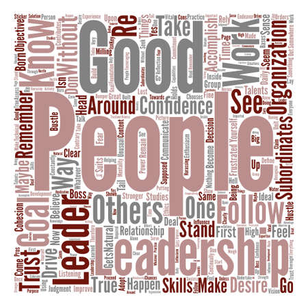 Make it happen be a leader text background word cloud concept