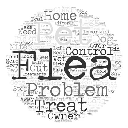 Yikes I Saw A Flea On My Dog Word Cloud Concept Text Background