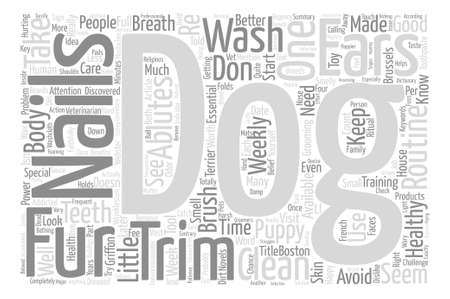 Smelly Dogs May Need Ablutions text background word cloud concept Illustration