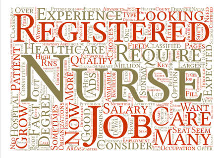 Registered Nurse Jobs Word Cloud Concept Text Background