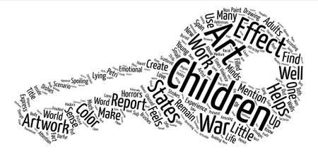 어린이의 효과 자신의 인생에서 아트 워크 텍스트 배경 단어 구름 개념