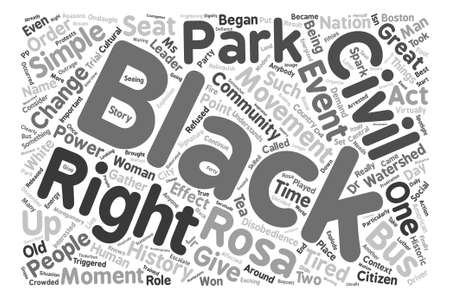 triggered: Rosa Parks Word Cloud Concept Text Background