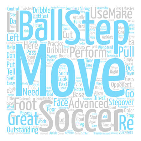 How To Step By Step Soccer Moves text background word cloud concept