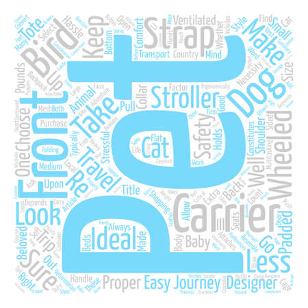Pet Travel Carriers A Necessity When You Are on the Go Word Cloud Concept Text Background Illustration