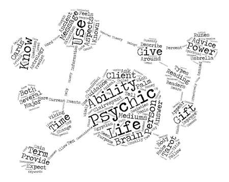 psychics: Psychics Word Cloud Concept Text Background