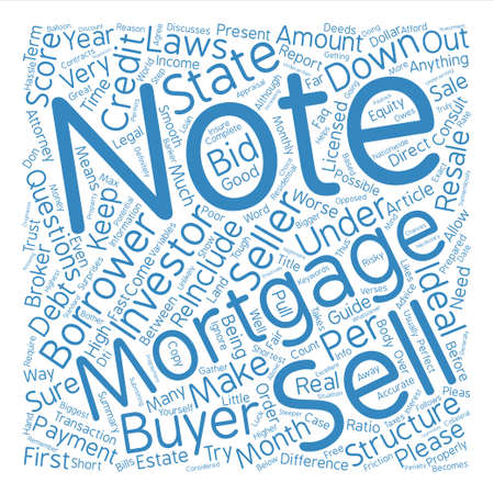How to structure your mortgage note for resale to an Investor text background word cloud concept