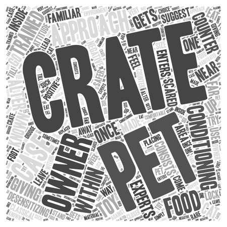 Dando entrenamiento de cajón a las mascotas Word Cloud Concept Ilustración de vector