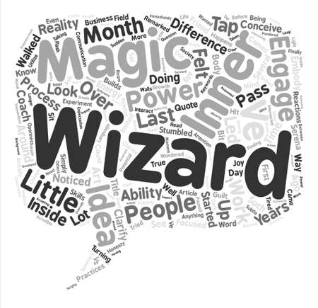 Your Inner Wizard Word Cloud Concept Text Background