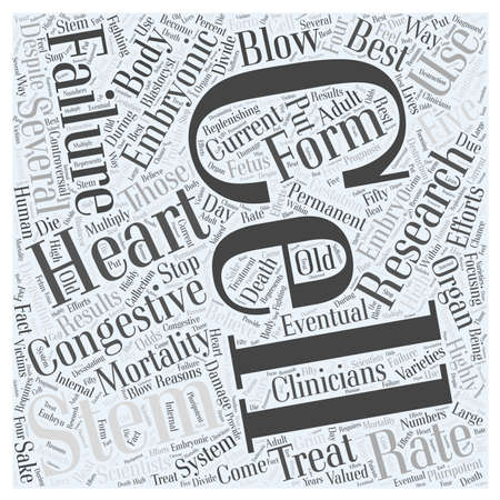 devastating: How Can Stem Cells Be Used to Treat Congestive Heart Failure Word Cloud Concept