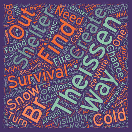 survive: Cold Weather Survival text background wordcloud concept