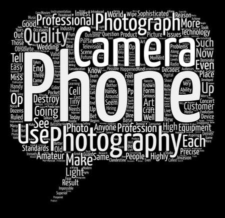 anyone: Will Camera Phones Destroy Photography Word Cloud Concept Text Background