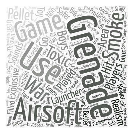 Perché dovresti andare per un concetto non esplosivo della nuvola di parola del fondo del testo della granata di Airsoft Vettoriali