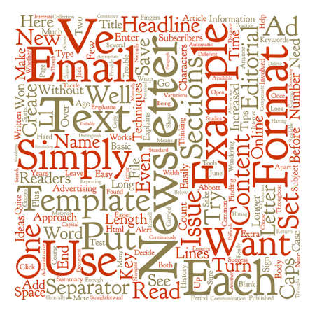 Email Newsletter Templates Text Word Cloud Concept Text Background
