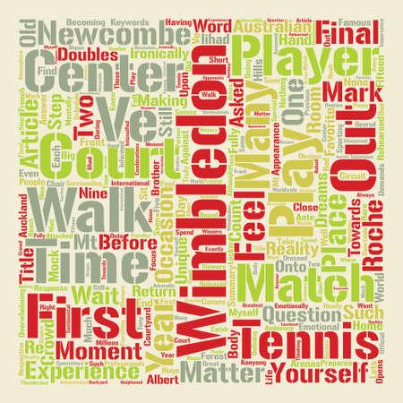 Wimbledon Center Court Word Cloud Concept Text Background Illustration