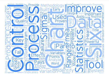 Six Sigma Tools text background word cloud concept Illustration