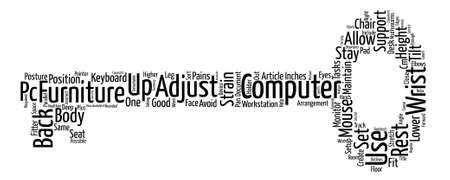 articles of furniture: Sort Your Computer Furniture Stay Fitter Word Cloud Concept Text Background