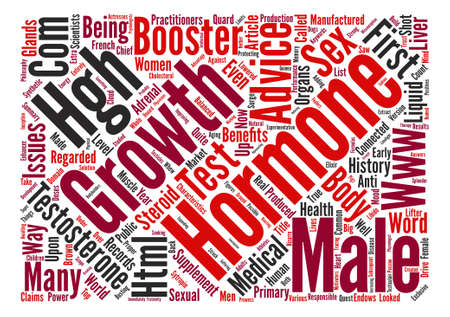 testes: Male Growth Hormone text background word cloud concept