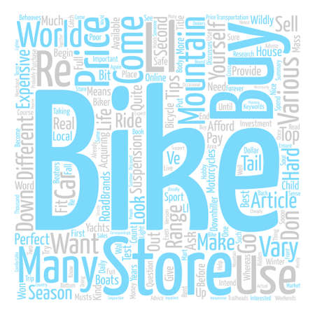 How To Buy A Mountain Bike Word Cloud Concept Text Background