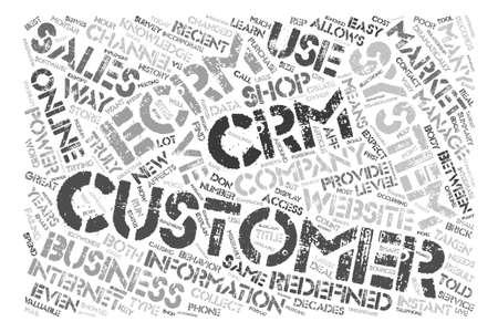 Will That Be CRM Or eCRM Software For Your Website text background word cloud concept Illustration