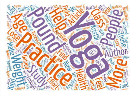 Yoga Helps Fight Mid Life Bulge text background word cloud concept