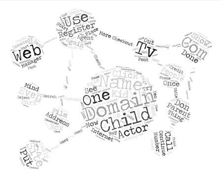 domains: Parents of Child Actors Register A Domain Name FAST Word Cloud Concept Text Background Illustration