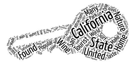 Top Tourist Activities In California text background word cloud concept